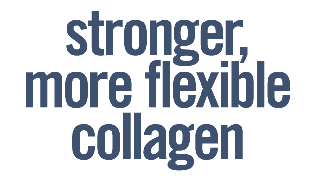 Stronger, flexible collagen