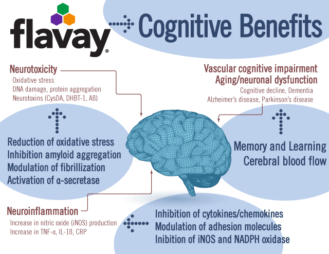 Flavay benefits the brain in multiple ways.