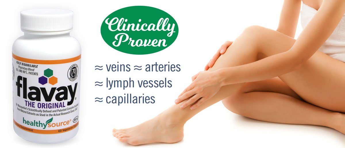 Flavay is clinically proven to restore circulation, lessen impaired venous backflow, seal leaky capillaries and prevent outflow of blood or liquid.